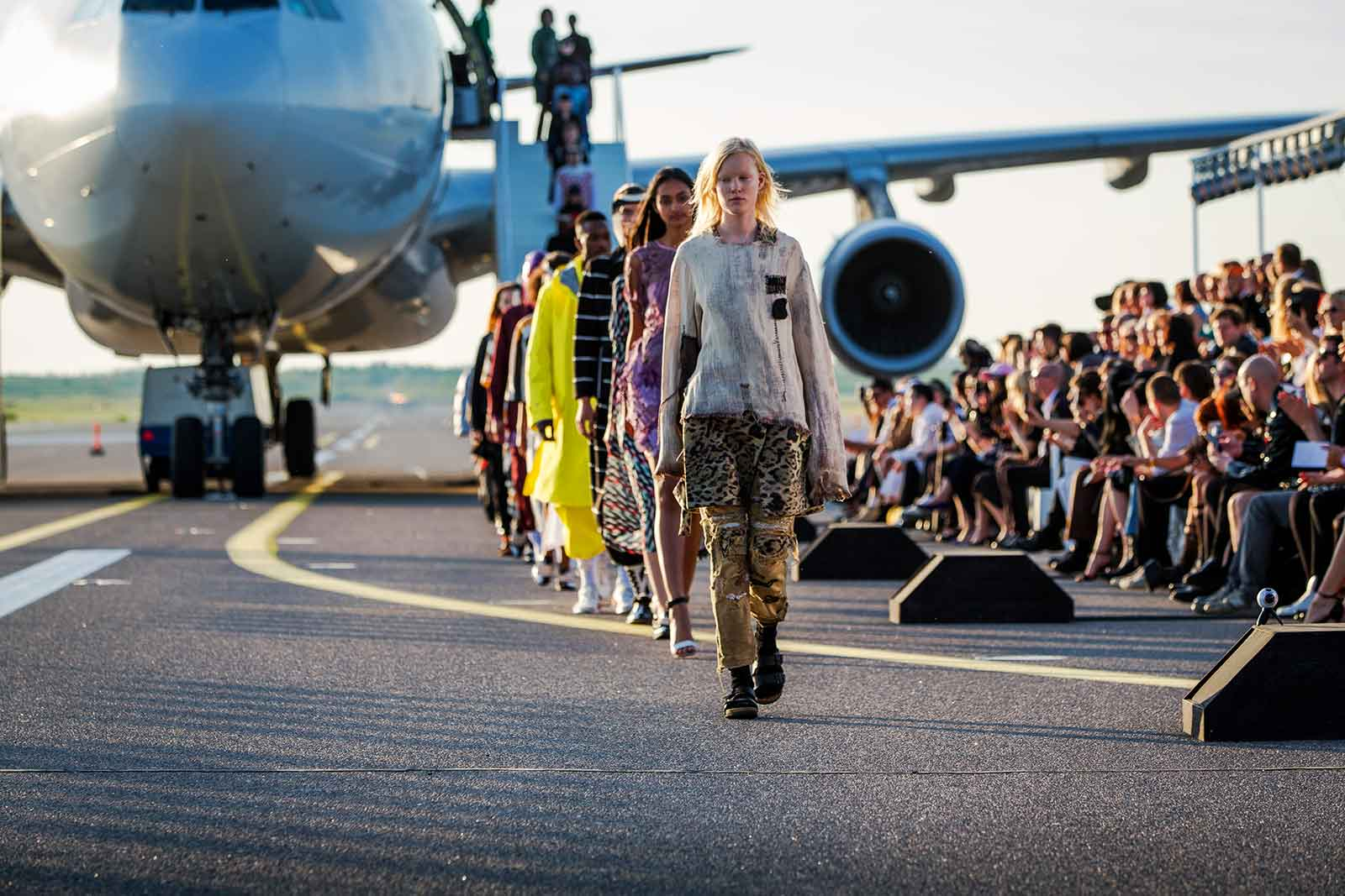 Helsinki Airport runway used for one of a kind fashion show Match Made In HEL