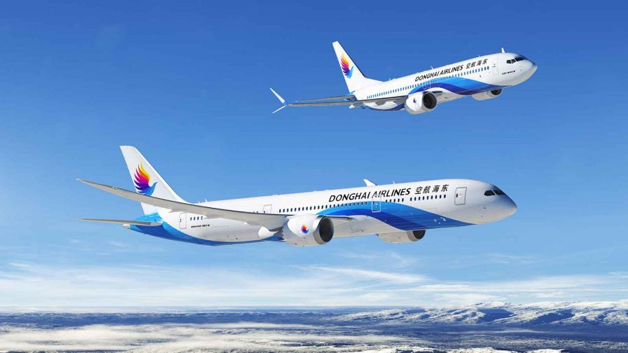 Donghai Airlines order 25 737 MAX 8 and five 787-9 Dreamliners