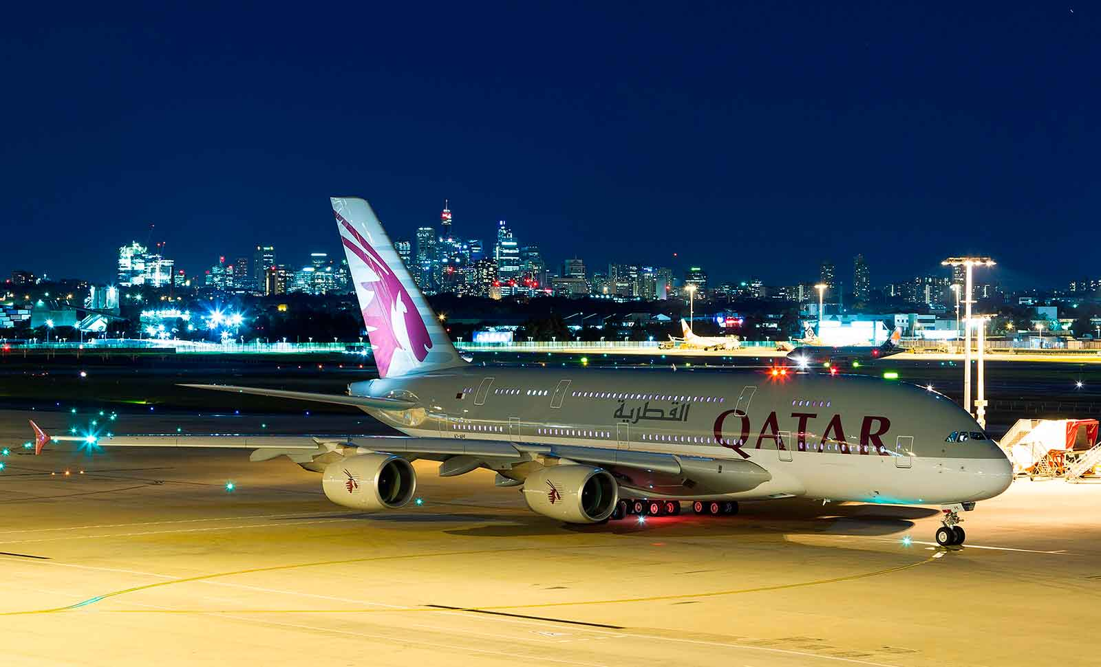 Qatar Airways A380 aircraft makes its Australian debut in Sydney