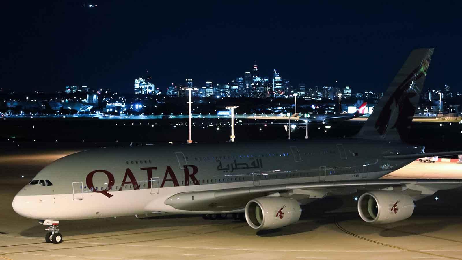 Qatar Airways A380 at Sydney Airport