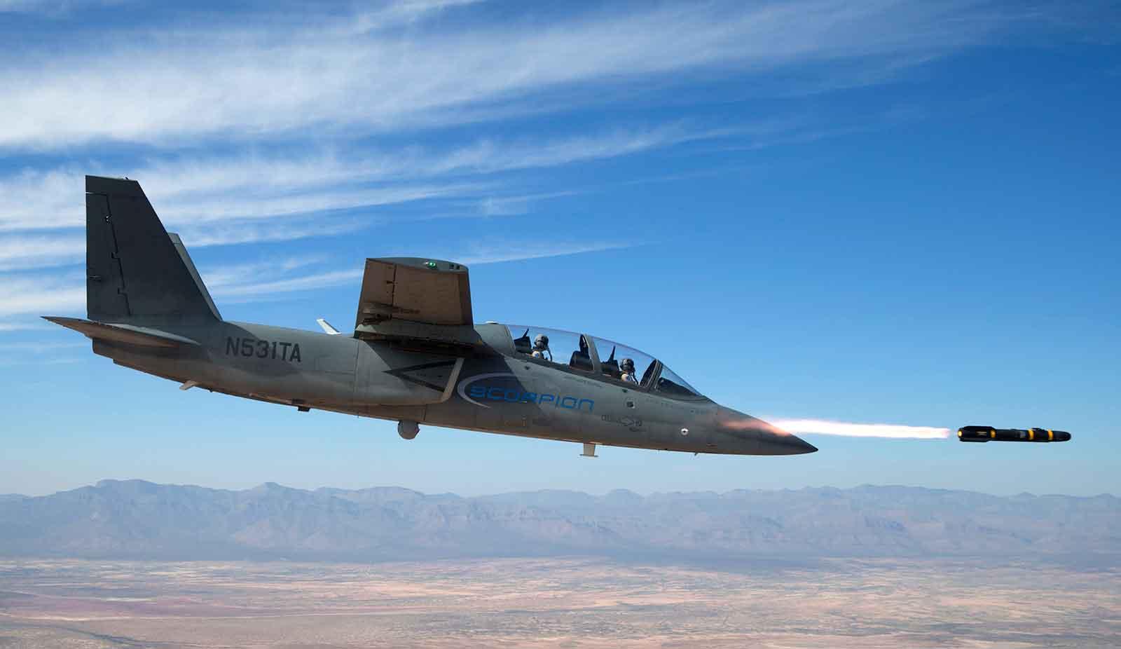 Scorpion Jet Weapons Testing