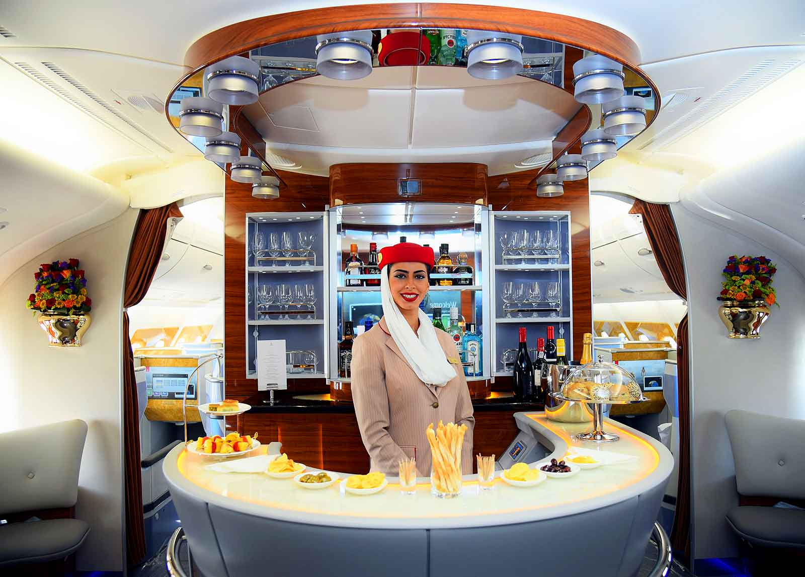 Fly to Narita with Emirates A380 Onboard Lounge
