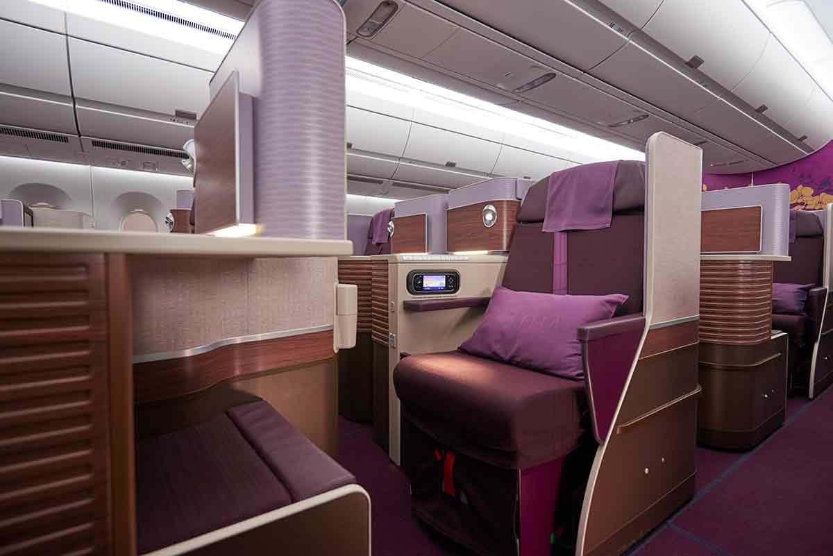 Thai Airways A350 Royal Silk Business class cabin seat