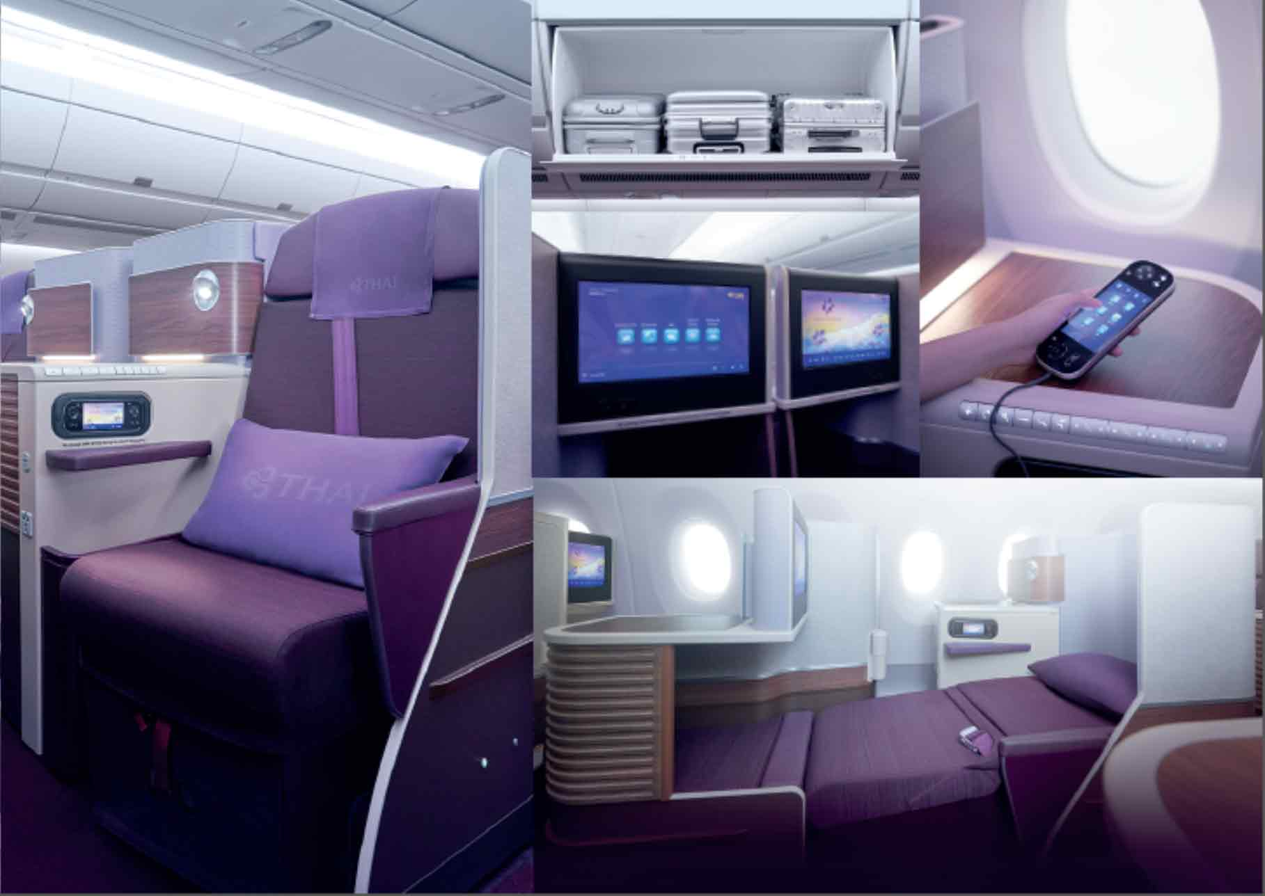 Thai Airways Airbus A350 Royal Silk Business class flat seat