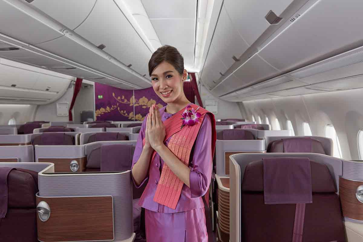 Thai Airways welcome you to their new A350 Royal Silk business class cabin