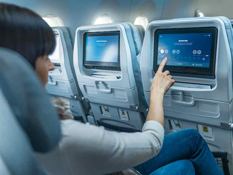 Finnair A350 economy class, in-flight entertainment
