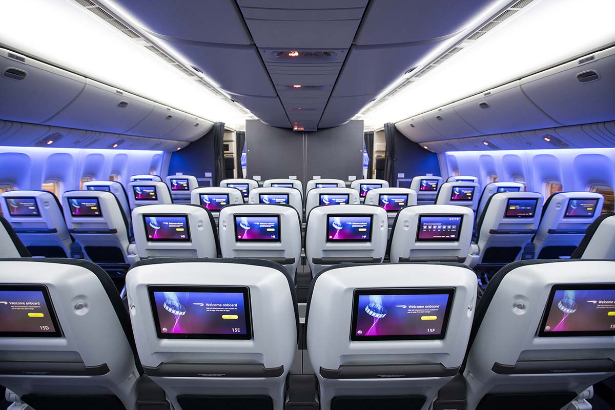 New British Airways World Traveller Plus cabin Boeing 777