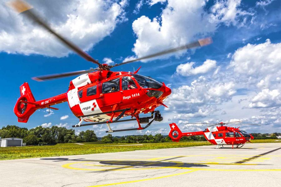 First two H145 helicopters delivered to Swiss Air-Rescue Rega