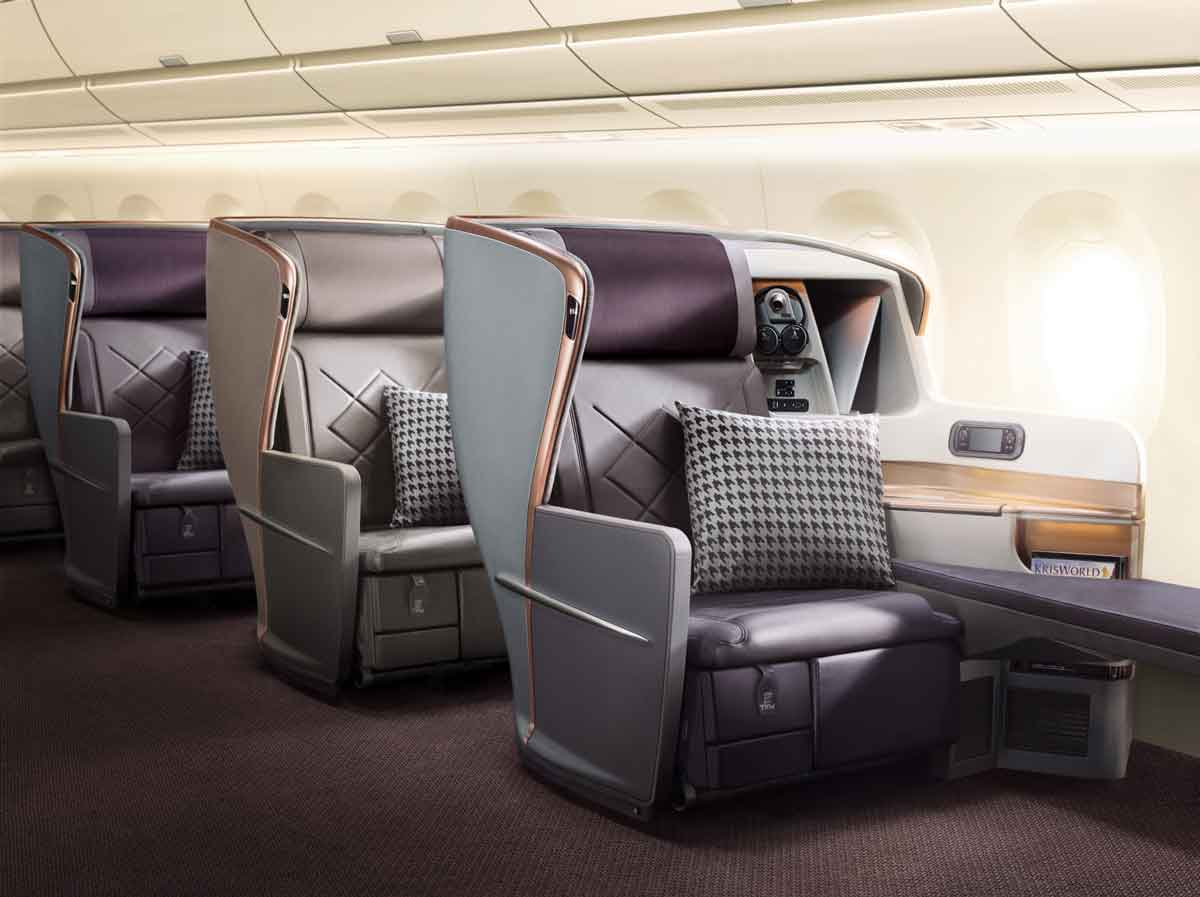 Singapore Airlines A350-900ULR Business Class Cabin