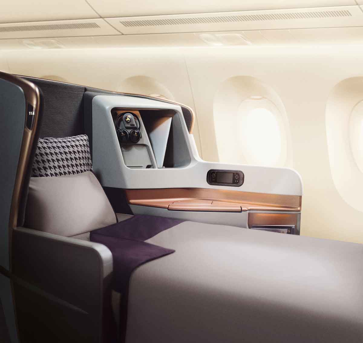 Singapore Airlines A350-900ULR Business Class Seat