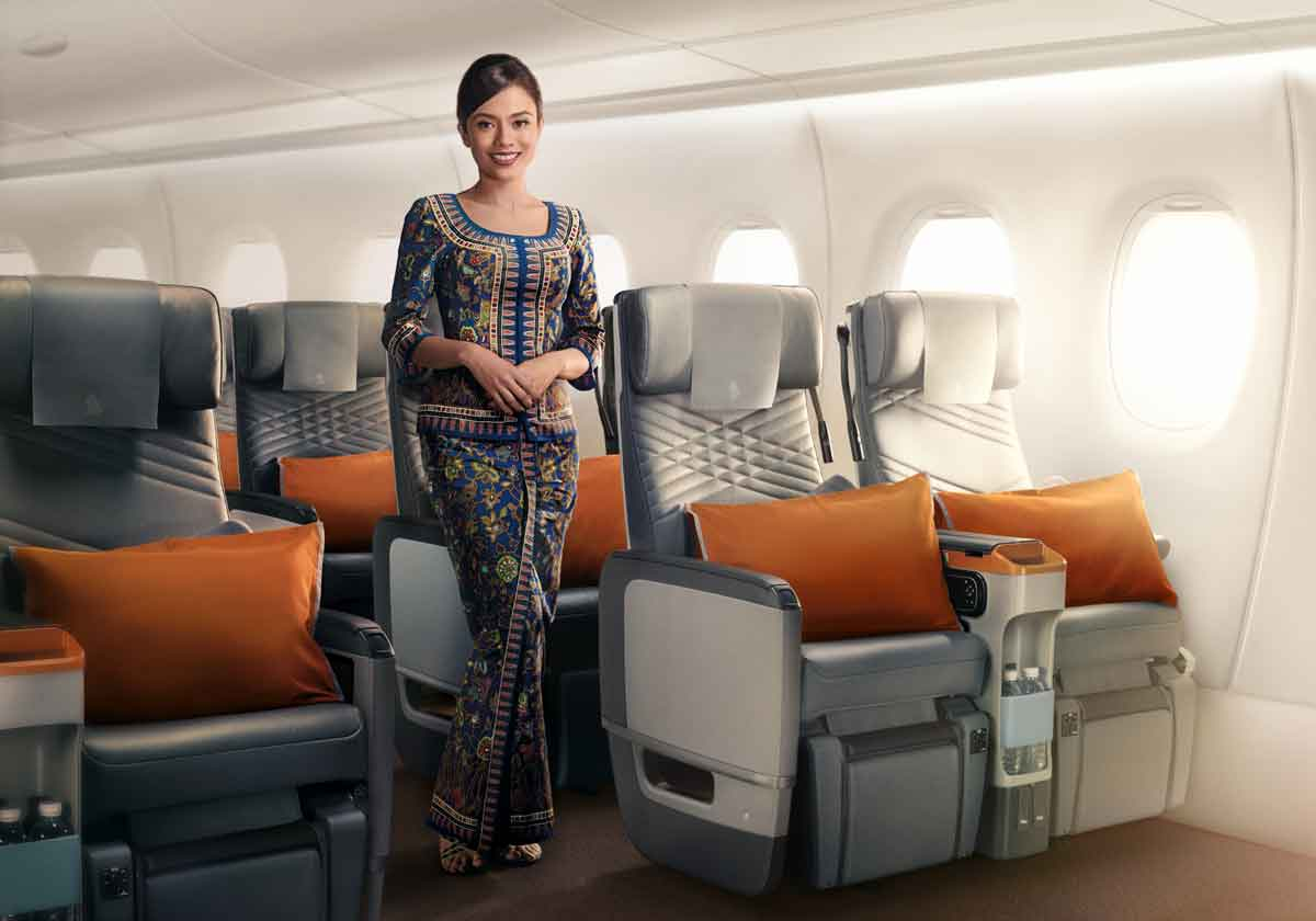 Singapore Airlines A350-900ULR Premium Economy Class Cabin