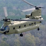A U.S. Army CH-47F Chinook helicopter
