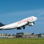 Air Canada Boeing 747 departs Frankfurt Airport