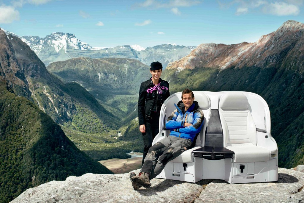 Air NZ Bear Essentials of Safety Bear Grylls stars in latest Air New Zealand A320 safety video