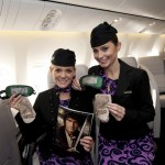 Air New Zealand Boeing 777 cabin crew get into the spirit of The Hobbit