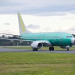 Boeing 737-700 BBJ lands at Chrsitchurch for new interior fitting at Altitude VIP Completions