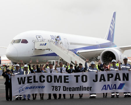 Boeing 787 arrives in Japan for ANA route checks validation