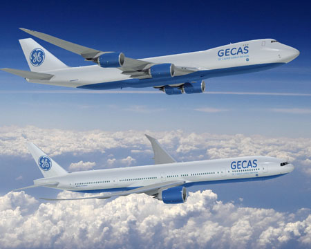 GE Capital Aviation Services GECAS Boeing 747-8F and 777-300ER