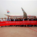 China Eastern Airlines first Sharklets equipped Airbus A320 assembled and delivered in Tianjin