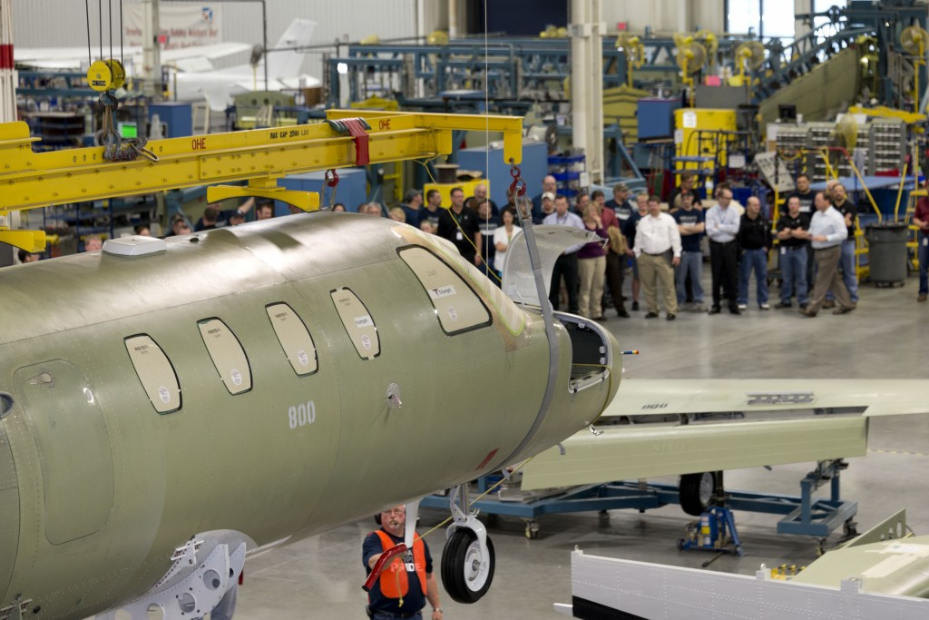Citation M2 Wing And Fuselage Mating