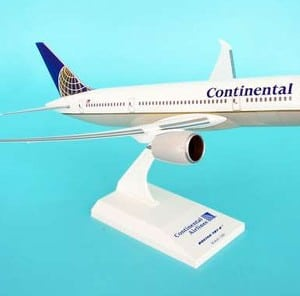 Continental Airlines Boeing 787 Dreamliner scale aircraft model