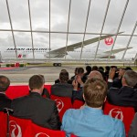 Delivery ceremony in Everett Washington where Boeing and Japan Airlines executives unveiled the JAL 787 Dreamliner aircraft