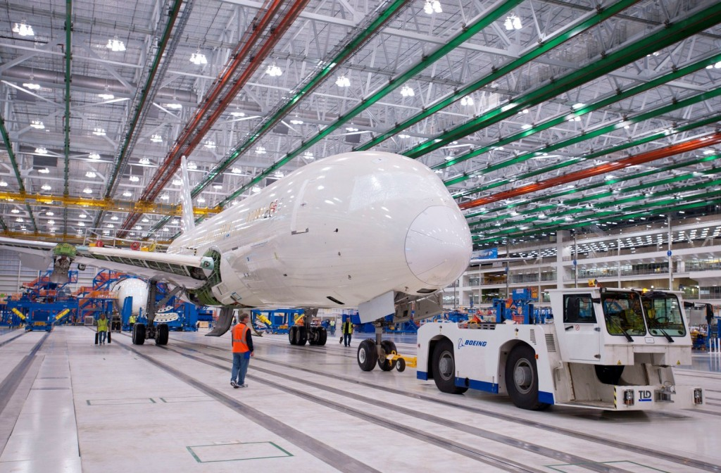 First South Carolina Boeing 787 rolls on wheels to Final Assembly