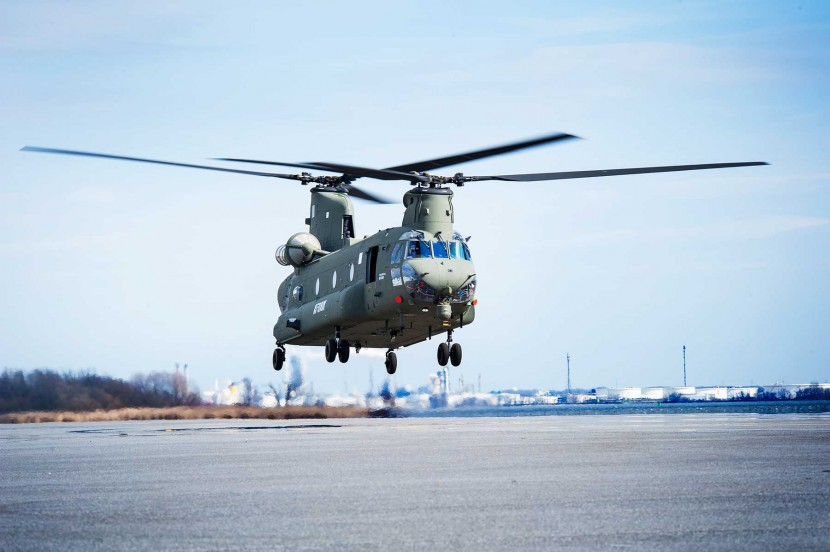 First flight of newest UK Boeing Chinook helicopter completed