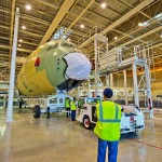 First section for Airbus A350 XWB MSN1 arrives in the final assembly line in Toulouse, France