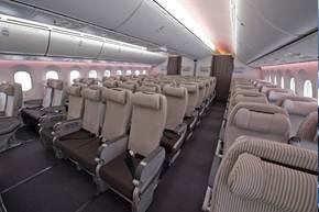 Japan Airlines Boeing 787 Economy Class Cabin