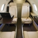 JetSuite Phenom 100 4 seater cabin for Singapoer Airlines passengers