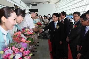 Korean Air Airbus A380 KE380 flight to Tokyo and Hong Kong