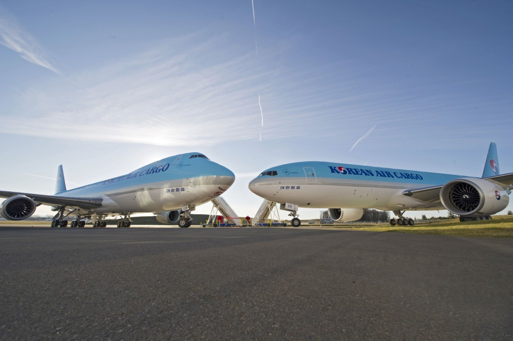 Korean Air Cargo take delivery of their first Boeing 747-8 Freighter and Boeing 777-300ER Freighter