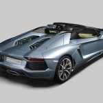 Lamborghini-Aventador-LP700-4-Roadster rear view with the roof open