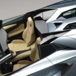 The new Lamborghini Aventador LP700-4 Roadster interior and rear deflector
