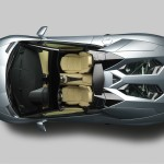 The new Lamborghini Aventador LP700-4 Roadster from overhead