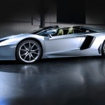 Lamborghini Aventador LP700-4 Roadster with the roof removed