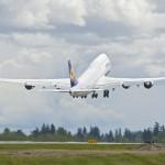 Lufthansa take their 747-8 Intercontinental home