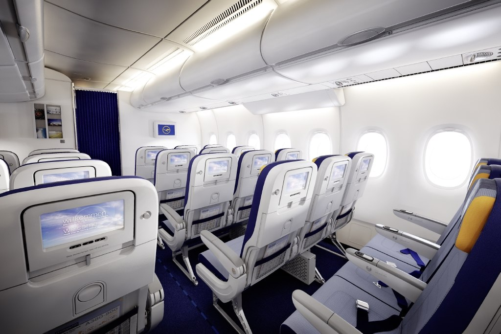 Airbus industrie a380 800 seating lufthansa for Airbus a380 interior