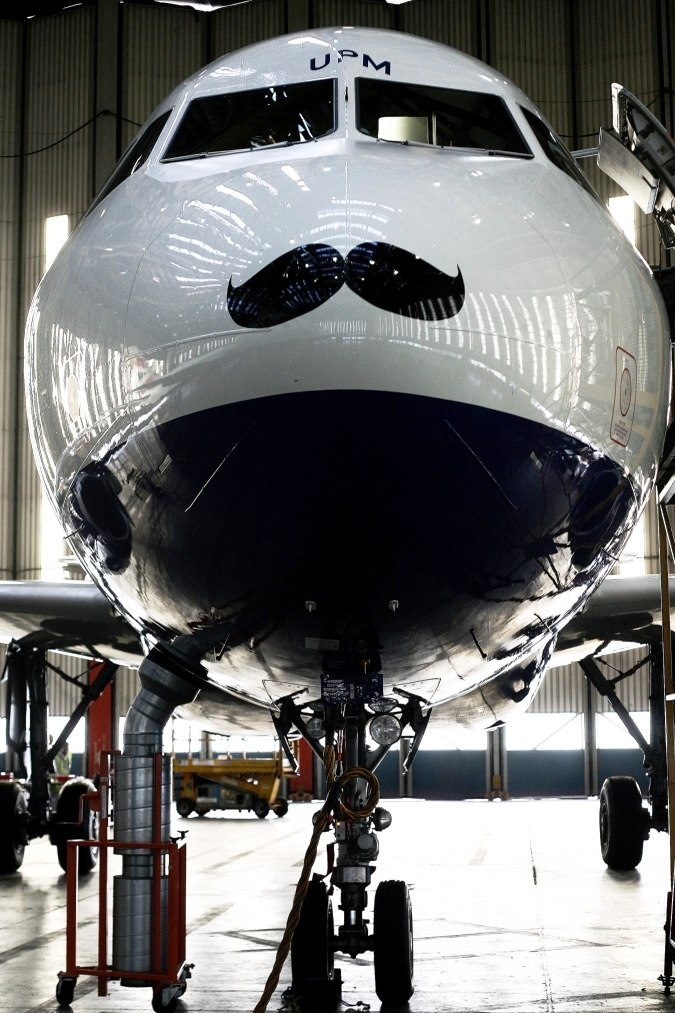 Movember takes off with British Airways Airbus A319