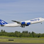 Panalpina Boeing 747-8 Freighter takes-off