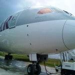 The first Qatar Airways tBoeing 787 Dreamliner
