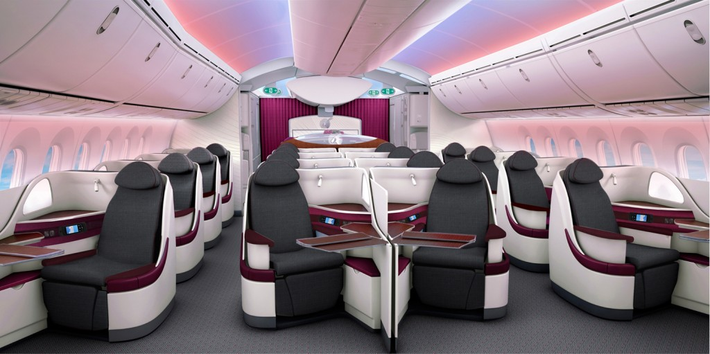 Qatar Airways' new Boeing 787 seats will make their long-haul debut on the Doha -London Heathrow route this summer.