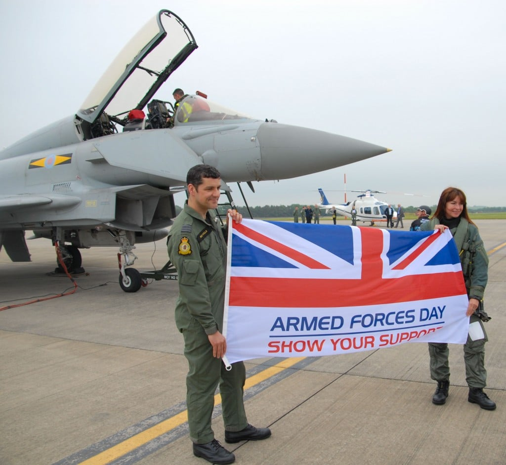 Support Armed Forces Day with Suzi Perry and Typhoon pilot Wing Commander Richard Wells