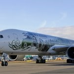The Air New Zealand Hobbit Boeing 777 at LAX airport