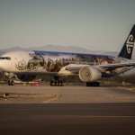 The Air New Zealand Hobbit Boeing 777 ready to depart LAX airport