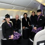 The Hobbit cast begin their trip to Wellington for the premier on the Air New Zealand Hobbit Boeing 777