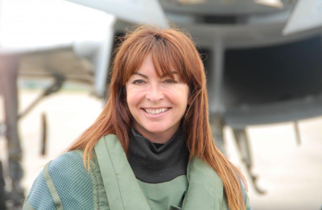 Typhoon jet pilot Suzi Perry