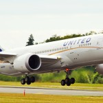 The first United Airlines 787 Dreamliner takes off for inflight tests