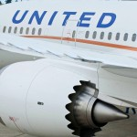 United Boeing 787 Dreamliner Aircraft Engine